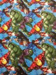 New! AVENGERS HULK IRON MAN THOR CAPTAIN AMERICA - Fabric 100% Cotton - Price Per Metre